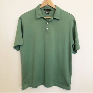 Nike Tiger Woods Golf Polo Green Shirt Medium